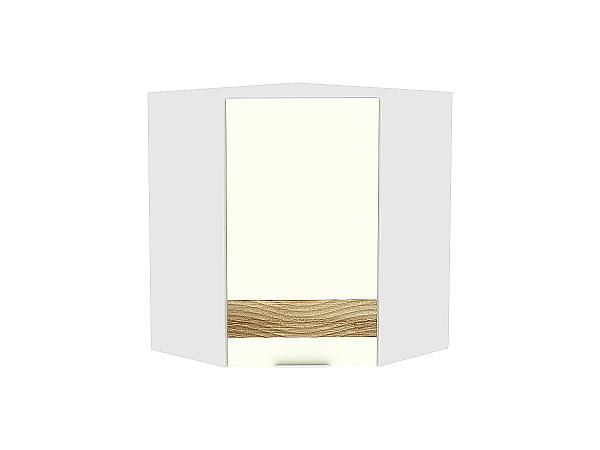 Шкаф верхний угловой Терра ВУ590 D (Ваниль софт)