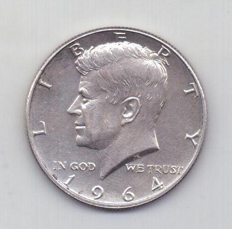 1/2 доллара 1964 года AUNC редкий год США