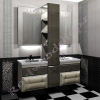 "Тумба для ванной   c двумя раковинами ""Лидс- double- wood"""
