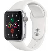 Watch Series 5 44 мм, корпус из алюминия серебристого цвета, спортивный браслет белого цвета