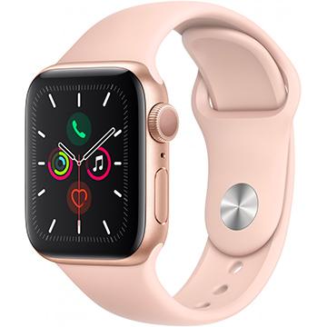 Watch Series 5 44 мм, корпус из алюминия золотого цвета, спортивный браслет цвета «розовый песок»