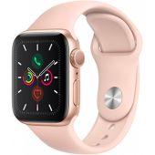 Watch Series 5 40 мм, корпус из алюминия золотого цвета, спортивный браслет цвета «розовый песок»