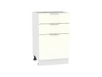 Шкаф нижний  с 3-мя выдвижными ящиками Терра Н503 в цвете Ваниль софт