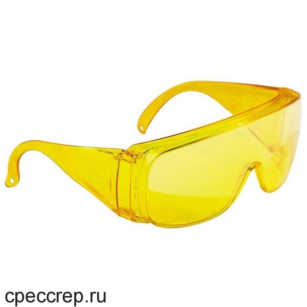 Очки поликарбонатные, цвет линз - бронзовый. Асферическая линза - 180° защита. Покрытие DX. 100% УФ защита.