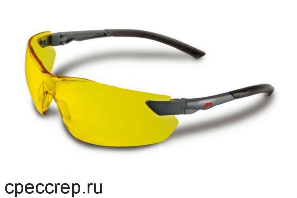 Очки защитные. Цвет линз - желтый