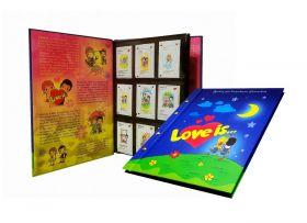КОЛЛЕКЦИЯ 99 вкладышей LOVE IS... ИСТОРИЯ ЛЮБВИ в АЛЬБОМЕ