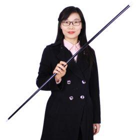 Появляющаяся трость пластиковая 100~110 см Чёрная (пр-во Корея)
