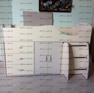 Кровать-чердак Карлсон МИКРО-304 со встроенным столом (15.8.304)