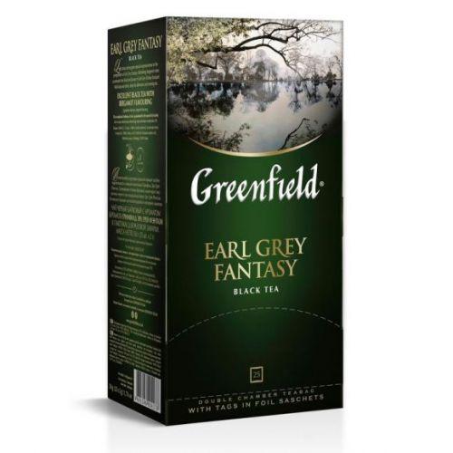 Çay Greenfield Earl Grey Fantasy qara 25 ədəd