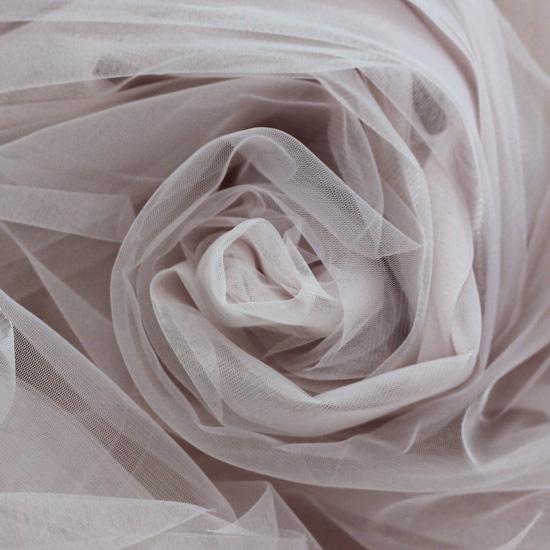 Мягкий фатин Пастель 300*25 - теплый серый