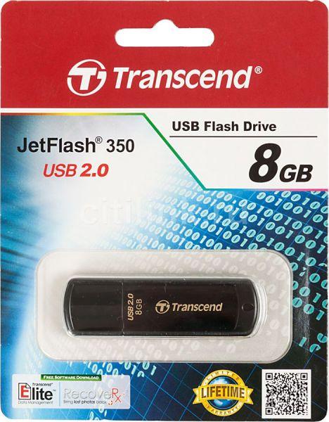 8GB USB-flash накопитель Transcend Jetflash 350 черный
