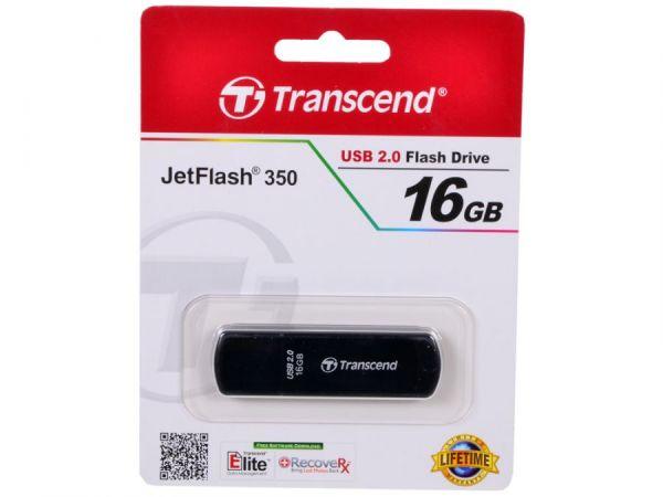 16GB USB-флэш накопитель Transcend Jetflash 350 черный
