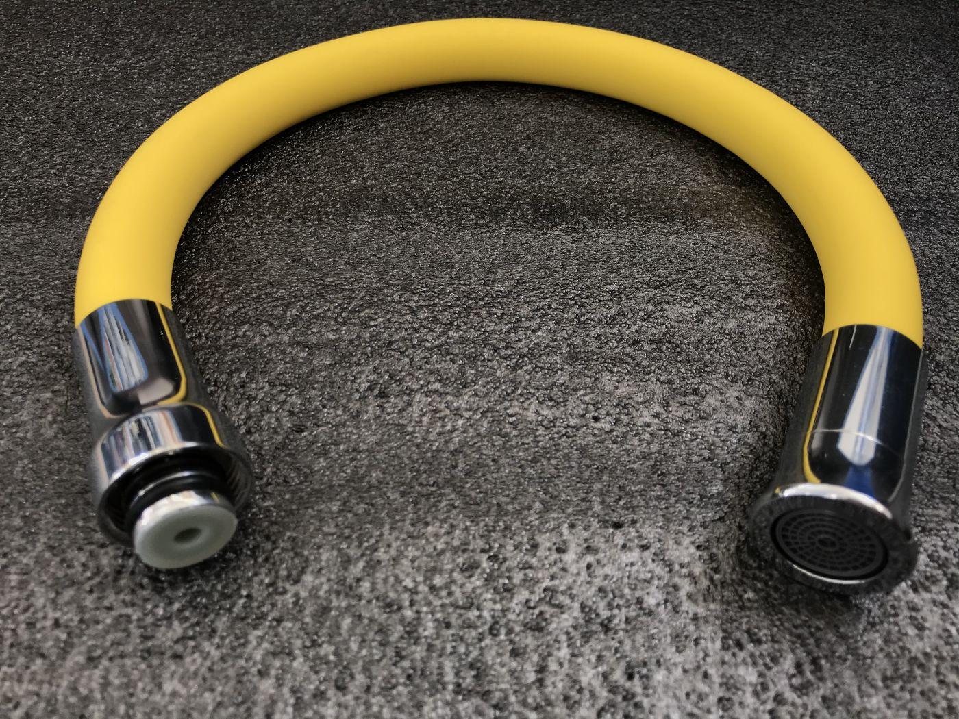 Гибкий излив для смесителя Vaserzberg VS-2Y (желтый)