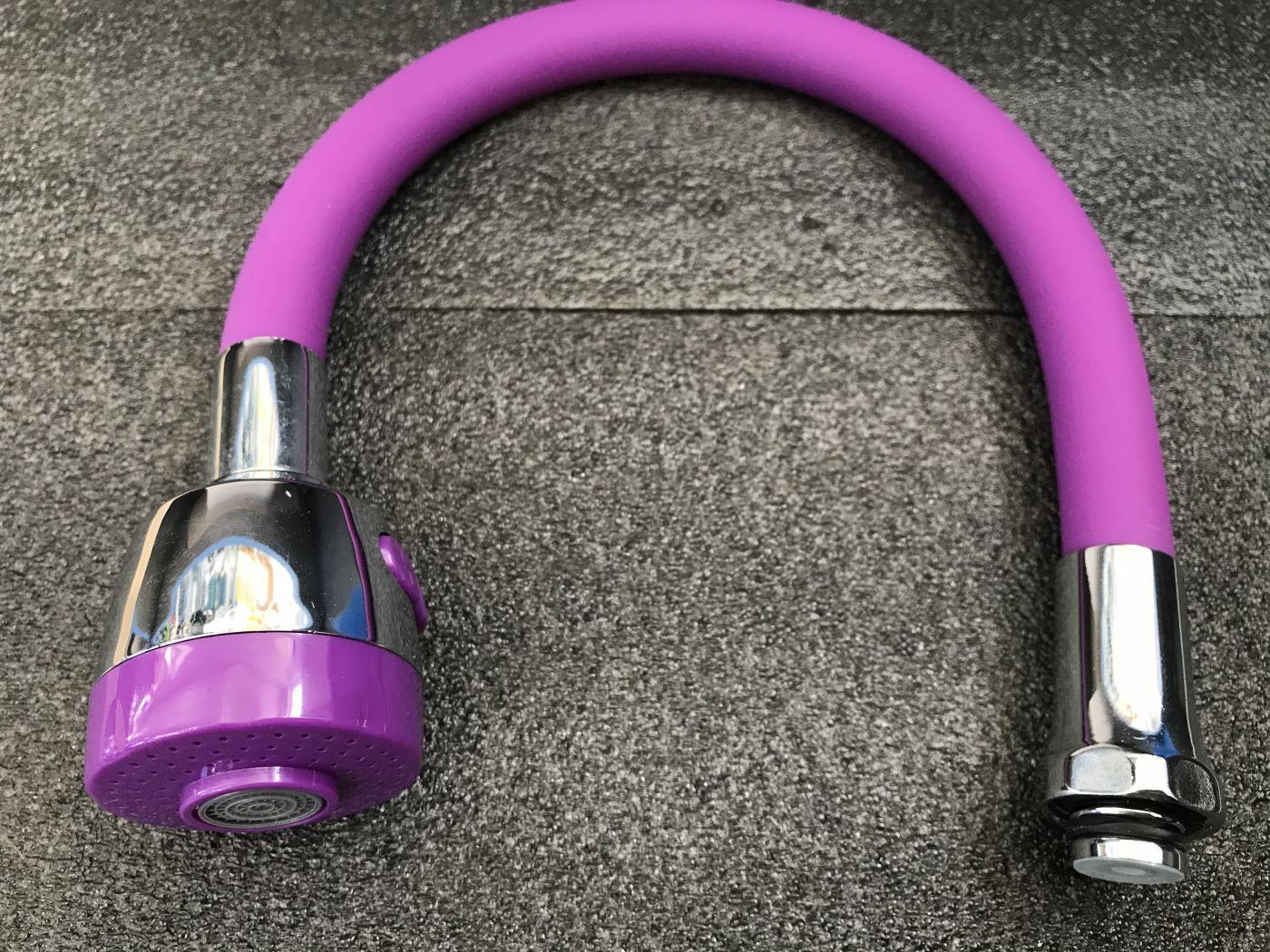 Гибкий излив для смесителя Vaserzberg VS-1P (фиолетовый)