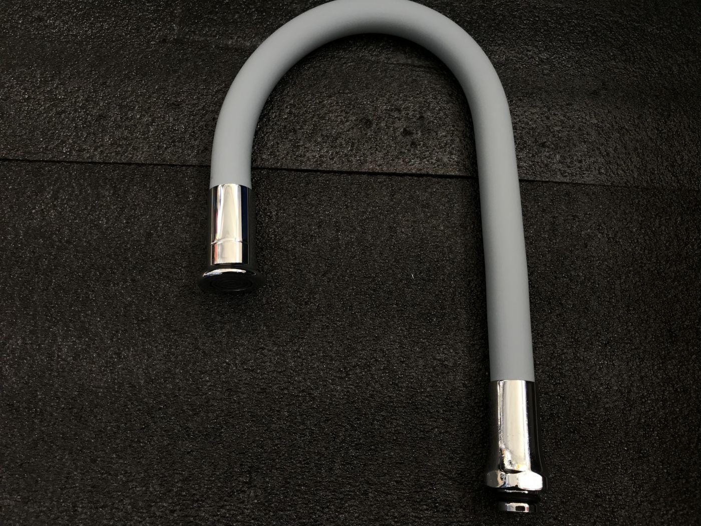 Гибкий излив для смесителя Vaserzberg VS-2GY (серый)