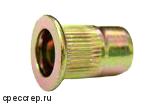 М6 заклепка резьбовая(гаечная),плоский фланец цилиндр цинк