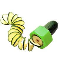 Слайсер для нарезки овощей спиралью (цвет зеленый)