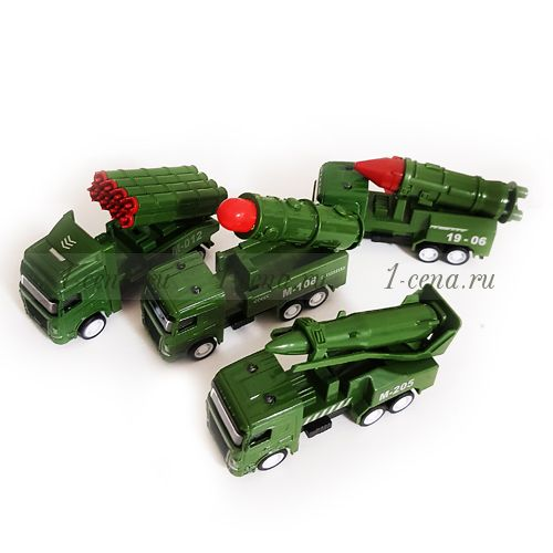 Машинка военная с обратной тягой в ассортименте