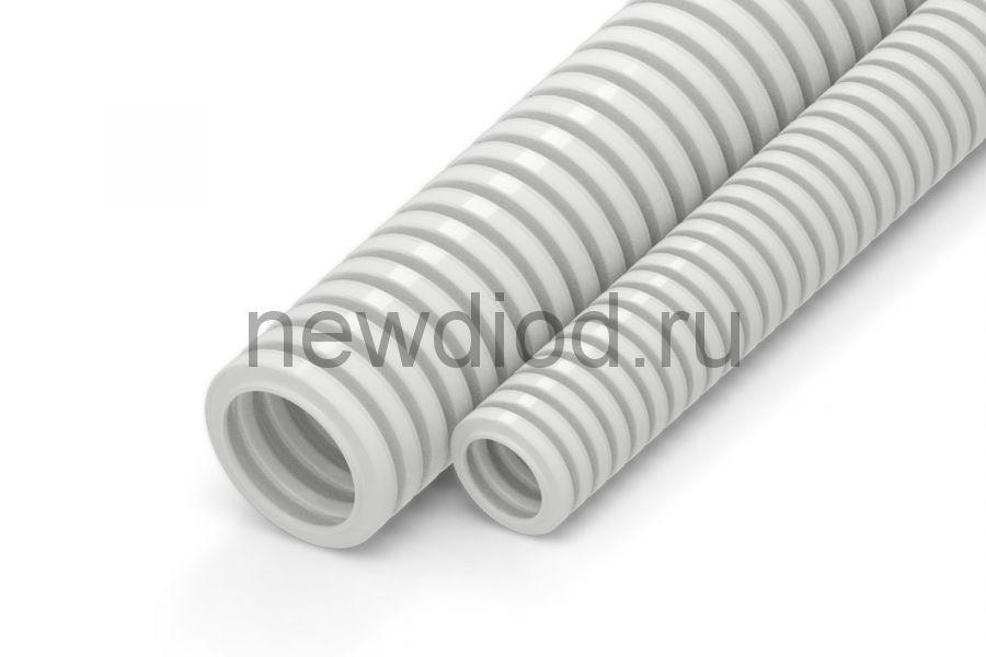 Труба гофрированная ПВХ Строительная серая с/з д25 (50м/2600м уп/пал)