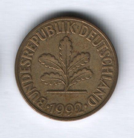 10 пфеннигов 1992 года Германия, D