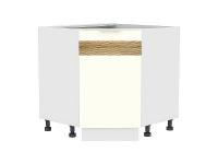 Шкаф нижний угловой (трапеция) Терра НУ890 D (Ваниль софт)