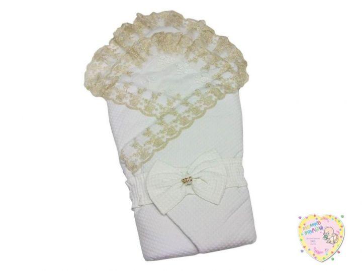 Комплект на выписку 5 предметов жатка (белый ромб) 5-KM004-JT