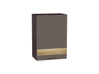 Шкаф верхний 1-ой дверцей Терра В500 D в цвете Смоки софт