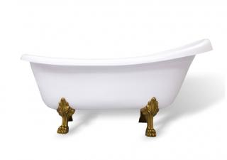 Ванна мраморная AquaStone Скарлет ножки цветные
