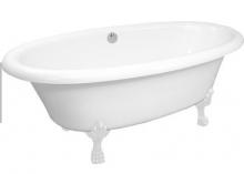 Ванна мраморная AquaStone Оливия ножки белые