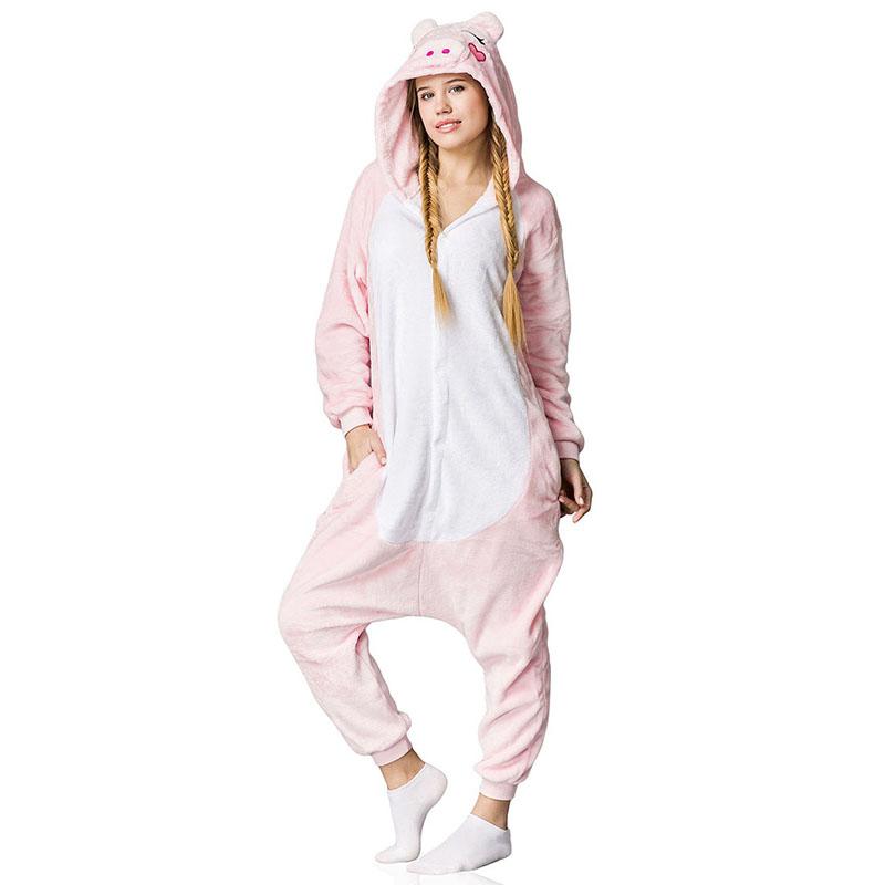 Пижама Кигуруми Свинка Розовая