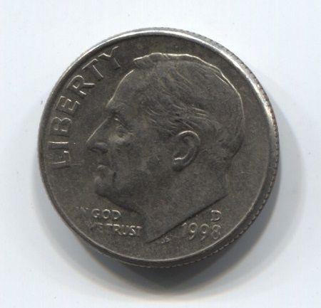 1 дайм 1998 года D США