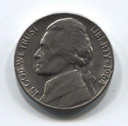 5 центов 1964 года D США XF-