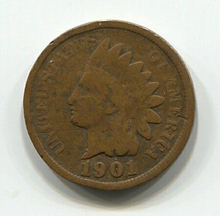 1 цент 1901 года США VF