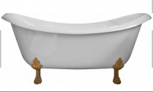 Ванна мраморная AquaStone Лиона с цветными ножками