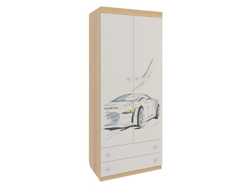Шкаф «Форсаж» комбинированный (двухстворчатый)