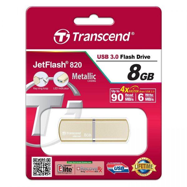 8GB USB3.0-флэш накопитель JETFLASH 820, Gold