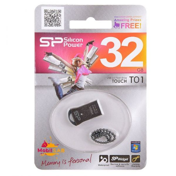 32GB USB-флэш накопитель Silicon Power T01 миниатюрная Black