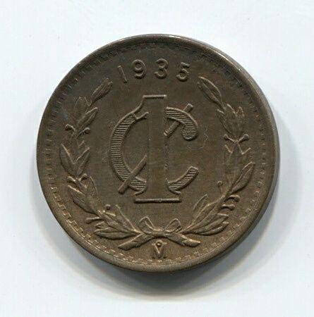 1 сентаво 1935 года Мексика XF+