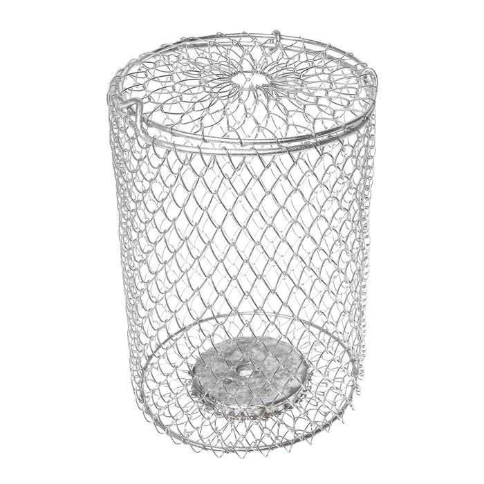 Кормушка 1 л металлическая сетка, оцинкованная, огруженная (h=16 см, d=115 мм)
