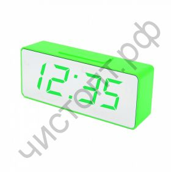 Часы  эл. сетев. VST886Y-4 зел.цифры(без блока) (5В)