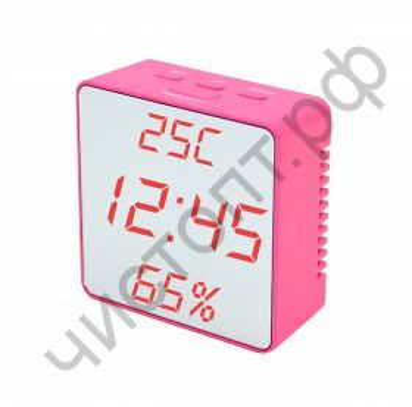 Часы  эл. сетев. VST887Y-1 крас.цифры(без блока) (5В)