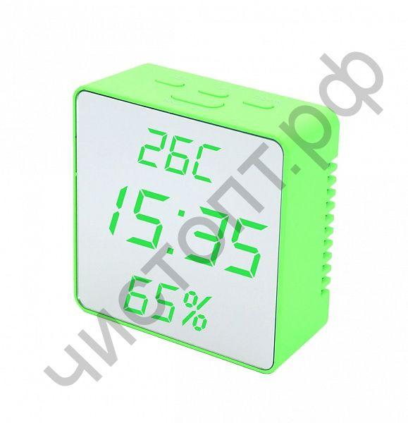 Часы  эл. сетев. VST887Y-4 зел.цифры(без блока) (5В)