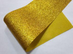 Глиттерная ткань (ткань с блёстками), золотая