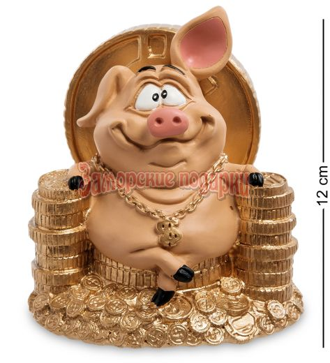 "RV-614 Статуэтка Свинка ""Желаю богатства"""