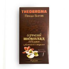 Горький шоколад с Фисташкой и Миндалем 72г
