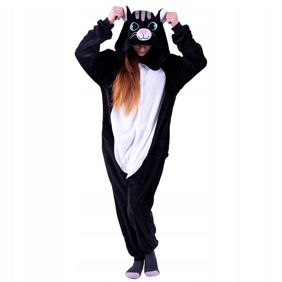 Пижама Кигуруми Кот Черный