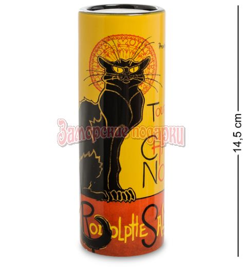 "pr-TC13ST Подсвечник ""Le Chat Noir"" Теофиль-Александр Стейнлен (Museum Parastone)"