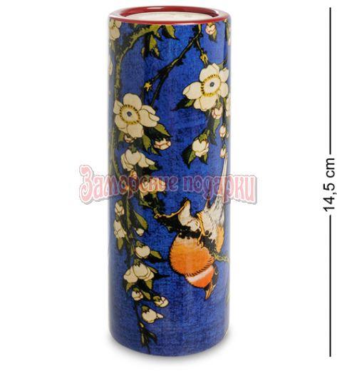 "pr-TC09HOK Подсвечник ""Bullfinch and Blossoms"" Кацусика Хокусай (Museum Parastone)"