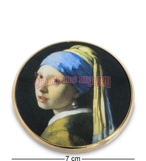 """pr-M28VE Зеркальце """"Девушка с жемчужной сережкой"""" Ян Вермеер (Museum.Parastone)"""