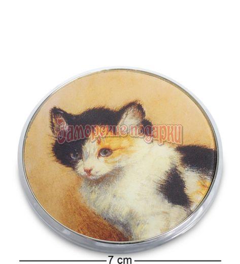 """pr-M17RK Зеркальце """"Пробуждение котенка"""" Генриетта Роннер-Книп (Museum.Parastone)"""